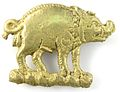 Copper-alloy boar mount from the Thames foreshore (London).jpg