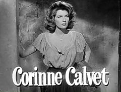 Corinne Calvet in When Willie Comes Marching Home trailer.jpg
