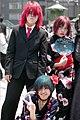 Cosplay Girls at Harajuku Bridge, Tokyo, Japan (2422541129).jpg