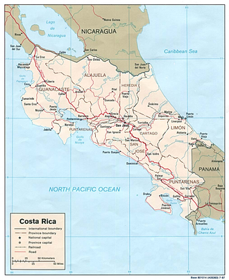 Geography of Costa Rica - Map of Costa Rica.