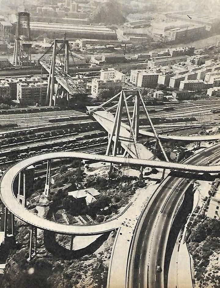 Costruzione Viadotto Polcevera 1966