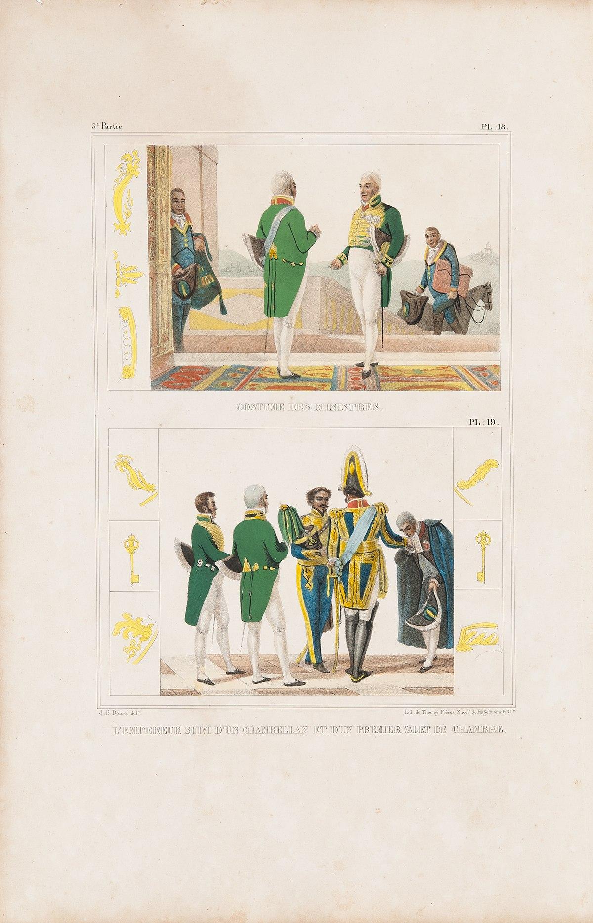 File:Costume des ministres - L´Empereur suivi d´un ...