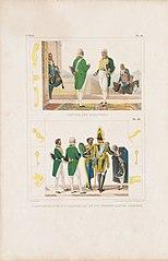 Costume des ministres - L´Empereur suivi d´un chambellan et d´un premier valet de chambre