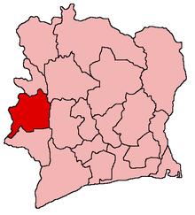 Регион диз юит монтан на картата на