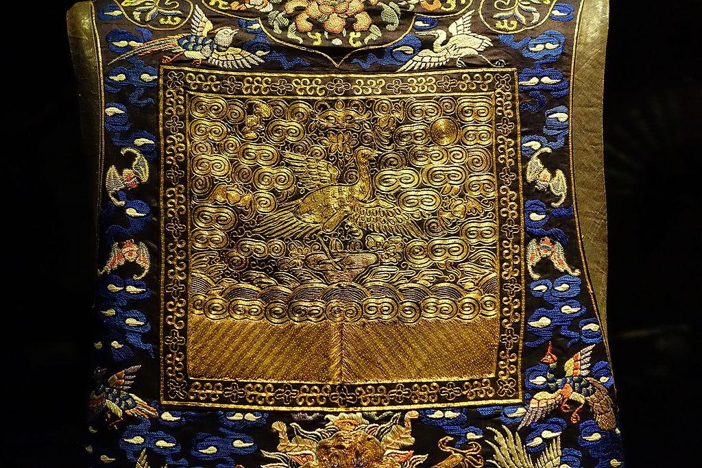Vêtement de cour de Chine au musée d'Orient de Lisbonne.
