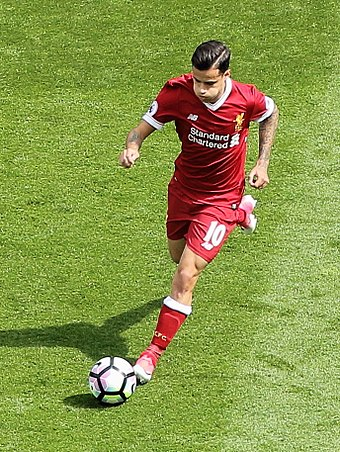 d5ba7529f32 Coutinho on the last day of the 2016–17 season. He scored the second