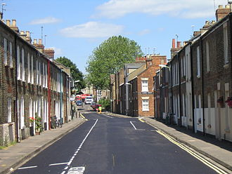Jericho, Oxford - Cranham Street, looking east.