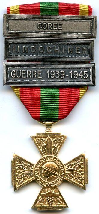 Volunteer combatant's cross - Image: Croix du combattant volontaire FRANCE