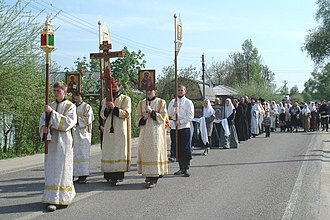 Eastertide - Bright Week procession (Russian Orthodox Old-Rite Church in Guslitsa)