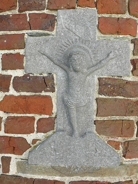 Crucifix at the back of St-Martin's Chapel in Bever.