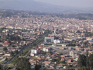 Cuenca, Ecuador - Panoramic view of Cuenca, Ecuador, from Turi area
