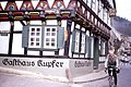 Cycling in the GDR April 30 1990- Gasthaus Kupfer, Stolberg (Harz) (3407074715).jpg