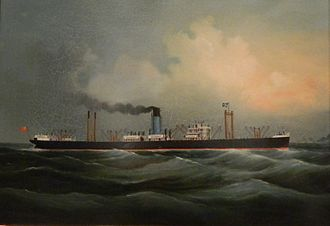 Blue Funnel Line - Image: Cyclops approaching Hong Kong
