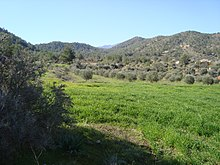 Cyprus countryside in Troodos Mountains hills.jpg