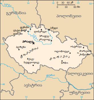 Czech Republic-CIA WFB Map KA