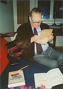 Czesław Miłosz (1911-2004), Kraków, december 1998