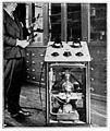 D'Arsonval with his high frequency apparatus. Wellcome M0014854.jpg