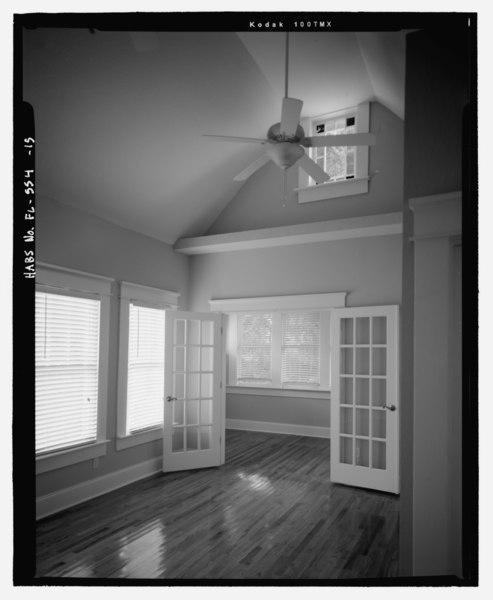 File Detail Of Interior French Doors Facing Southwest 2008 North Lamar Avenue House 2008