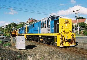 New Zealand DJ class locomotive - Two DJ class locomotives in service for TGR.