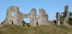 Newcastle Emlyn - The remains of the Norman castle.