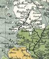 DaenischeBahn in SH aus Bahnkarte Deutschland 1861.png
