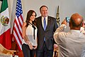 Danielle Dithurbide with Mike Pompeo in Mexico City - 2018 (41585369750).jpg