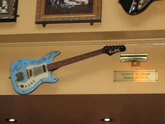 Oingo Boingo - Guitar used by Danny Elfman in Oingo Boingo, Hard Rock Cafe Montreal