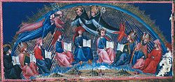 Illustration of Dante's Paradiso, by Giovanni di Paolo, (between 1442 and c.1450)