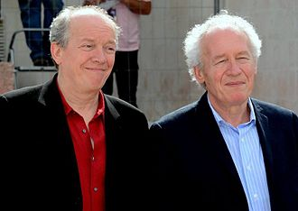 2005 Cannes Film Festival - Luc Dardenne (left) and Jean-Pierre Dardenne, Palme d'Or winners