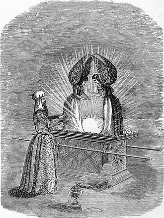 """Mercy seat - """"The Ark and the Mercy Seat"""", 1894 illustration by Henry Davenport Northrop"""