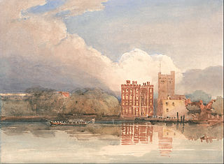 View of Lambeth Palace on Thames