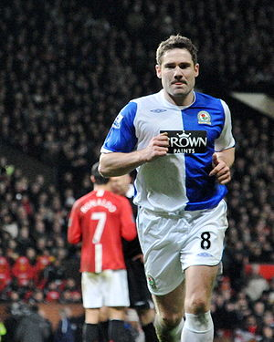 David Dunn - Dunn playing for Blackburn Rovers in 2009