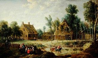 Gillis Peeters the Elder - Image: David Teniers II and Gillis Peeters (I) A Scene in a Flemish Village
