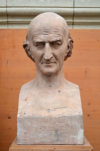 Antoine Laurent de Jussieu - Bust of Antoine-Laurent de Jussieu by David d'Angers (1837).