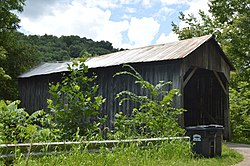 Private covered bridge on Hickman Road