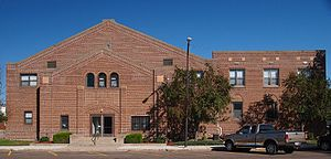 National Register of Historic Places listings in Lac qui Parle County, Minnesota - Image: Dawson Armory & Community Building