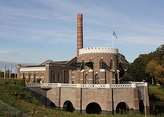 House-built engine - The multiple beams of the Cruquius pumping engine in the Netherlands