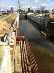 De Julianasluis in Gouda met de nieuwe kolk in aanbouw (02).JPG