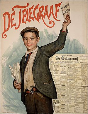 De Telegraaf - Advertisement poster, 1898