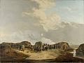De halve maan voor Naarden bij het beleg, april 1814 Rijksmuseum SK-A-1103.jpeg