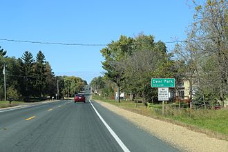 Deer Park, Wisconsin - The sign for Deer Park