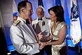 Defense.gov News Photo 100413-N-0696M-478 - Chairman of the Joint Chiefs of Staff Adm. Mike Mullen greets CNN anchor Kyra Phillips at the annual Tragedy Assistance Program for Survivors Gala.jpg
