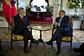 Defense.gov News Photo 120426-D-TT977-262 - Secretary of Defense Leon E. Panetta shares a lighter moment with Chilean President Sebastian Pinera at the Presidential Palace Santiago Chile.jpg