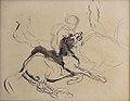 Dehodencq A. - Ink and Pencil - Esquisse, arabe auprès de son cheval mort - 19x14,5cm.jpg
