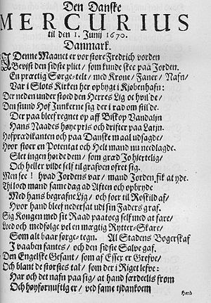 Den Danske Mercurius - July 1 1670 edition