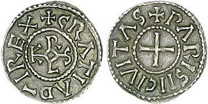 Charles the Bald - Denier of Charles the Bald struck at Paris
