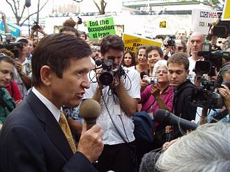 Dennis Kucinich - Kucinich speaks out against the occupation of Iraq at the 2004 Democratic National Convention.