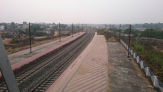 Deoghar Junction railway station - Image: Deoghar railway station platform