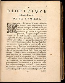 "First page of ""La dioptrique"" by Rene Descartes Descartes-1637-b001 (1).jpg"