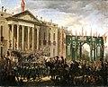 Desfile militar ante el Congreso de los Diputados con motivo del triunfo de la Gloriosa (Museo del Romanticismo de Madrid).jpg